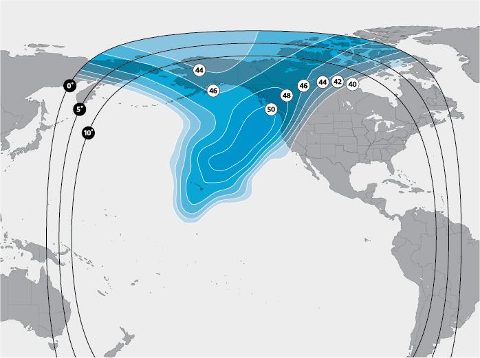 Canada Alaska Ku-band beam