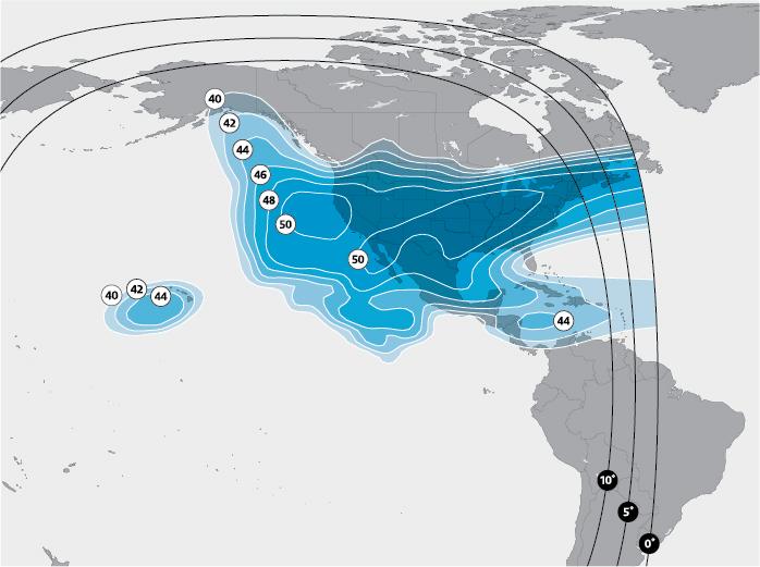 North America Ku-band beam